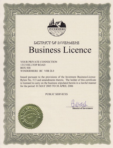 Business License 2005/06